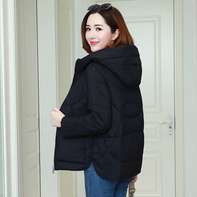 Winter Warm Hooded Coats Women Casual Jackets New Fashion Double Pocket Thick Cotton Parka Female Outerwear Coat P241