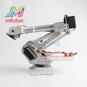 6 Dof Robot 3Colors Mechanical Arm Metal Manipulator Mechanical Arm Aluminum Alloy Structure for Arduino DIY Remote Control