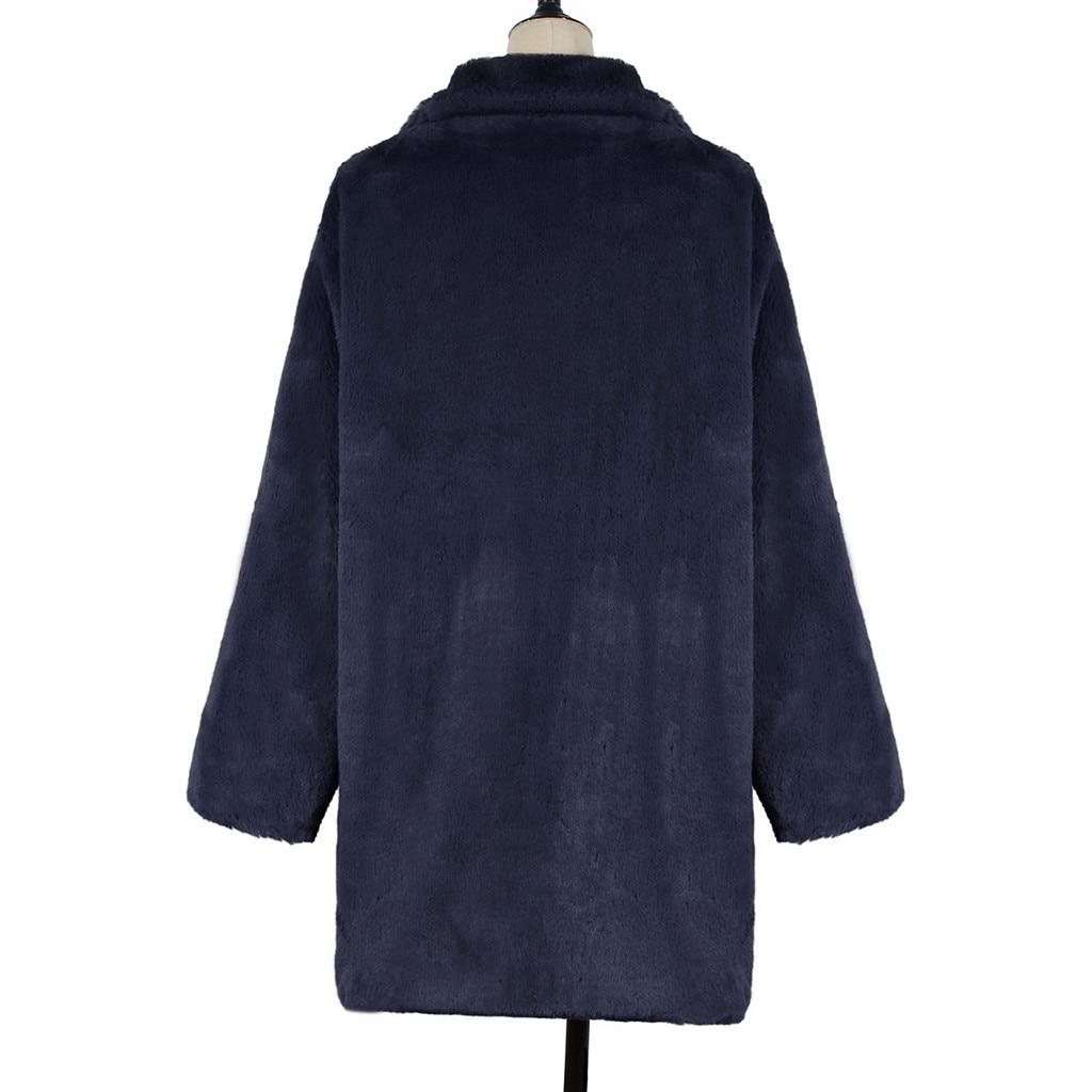 H39021b31f5e24ad68983455898c7ead3E New Winter Womens Faux Fur Long Outwear Coat Warm Fleece Thick Jacket Ladies Long Plus Size Cardigan Overcoat