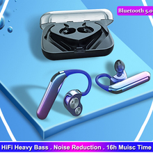 TWS X6 Binaural Earphone Ear Hook Bluetooth 5.0 ipx7 Wireless Earbuds Noise Cancelling Headphones HiFi Support Bass Headset
