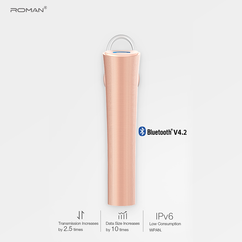 Roman r555 bluetooth earphone wireless headset Business Handsfree Sport with mic Headphone With packing