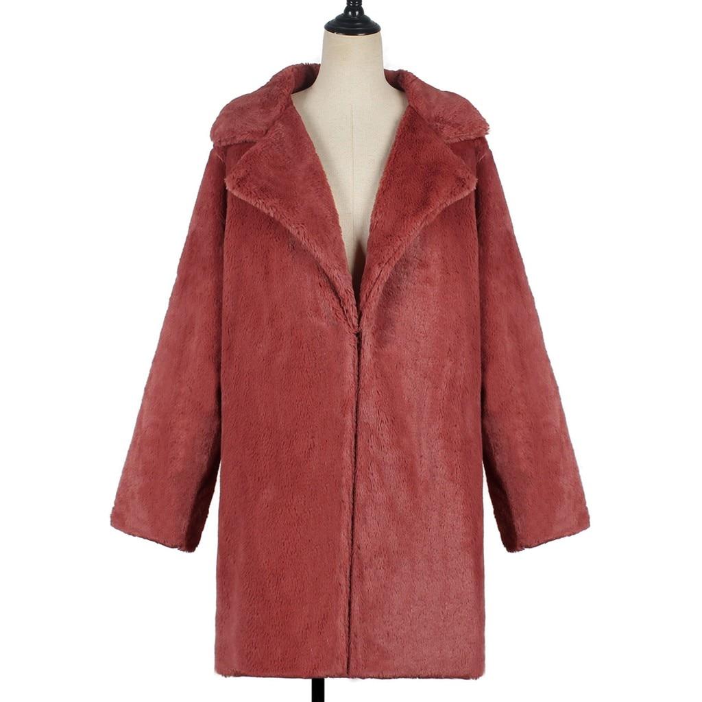 H3902c0b7d7494165a9a50447c9a5096ce New Winter Womens Faux Fur Long Outwear Coat Warm Fleece Thick Jacket Ladies Long Plus Size Cardigan Overcoat