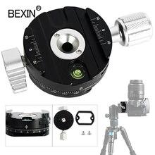 Dslr pince de fixation rapide pince de montage pour caméra trépied plaque adaptateur 360 rotation panoramique pince de prise de vue pour arca swiss caméra trépied