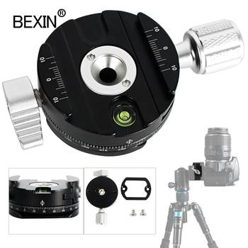 lanbeika camera tripod aluminum quick release plate assembly p200 clamp adapter for manfrotto 577 501 500ah 701hdv q5 Dslr quick release clamp camera mount clip tripod plate adapter 360 rotate panoramic shooting clamp for arca swiss camera tripod