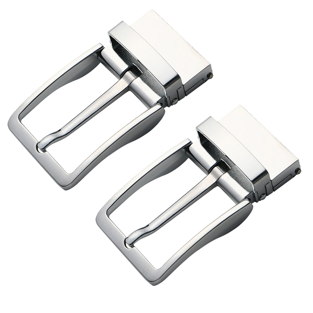 2pcs Simple Buckle Automatic Alloy Belt Buckles For Man Simple Rectangular Brooch Tightening Easily Reversible Christmas Gift