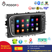 Podofo 7'' Car Multimedia Player Android 6.0 Touch Screensupport mirror link for Focus Mondeo C MAX S MAX Galaxy II Kuga