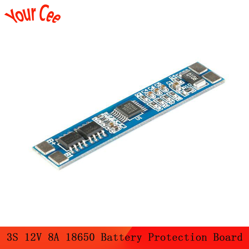 3S 12V 8A Li-ion 18650 Lithium Battery Charger Protection Board 11.1V 12.6V BMS Charger Protection Board