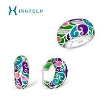 Xingtelo свадебные серьги кольцо 925 стерлингового серебра свадебный