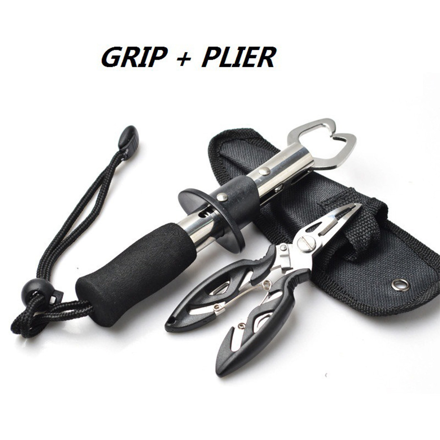Cutter Plier Scissor Fish Gripper Plier Set Nipper Pincer Snip Fishing Lure Lipgrip Accessory Tool Clip Clamp Grabber Trigger