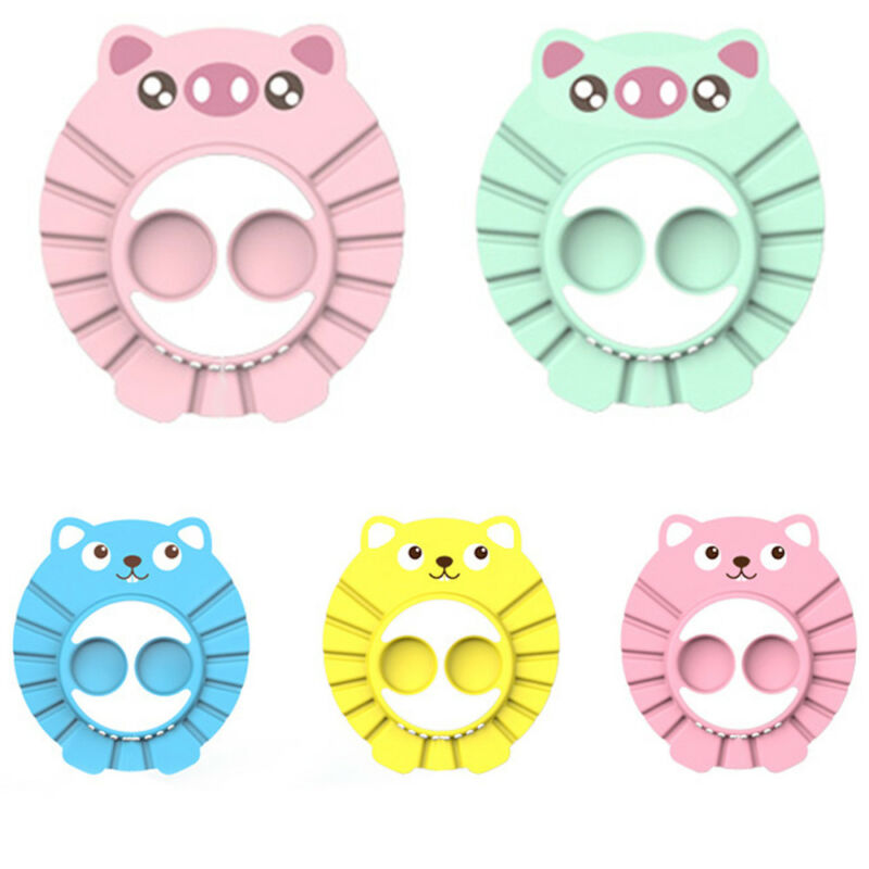 Baby Kids Children Shampoo Bath Hat Adjustable Shower Bathing Soft Cap Wash Ear Hair Waterproof Shield