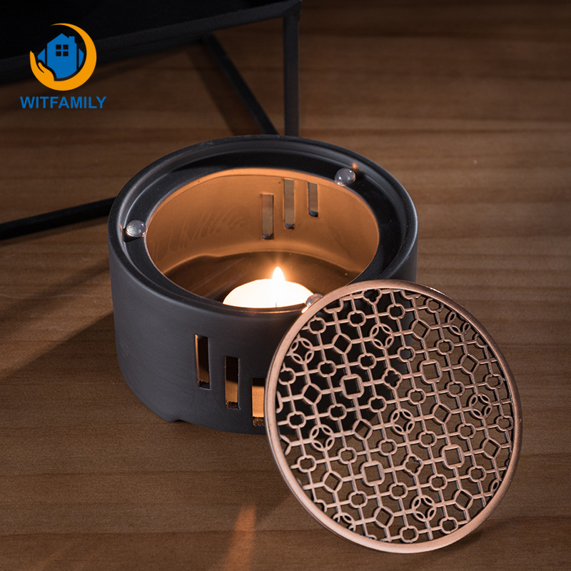 Heating Base Japanese Candle Tea Warmer Kungfu Tea Warmer  Insulation Base Ceremony Ceramic Heater Tea Pot Boiled Flower Tea  -