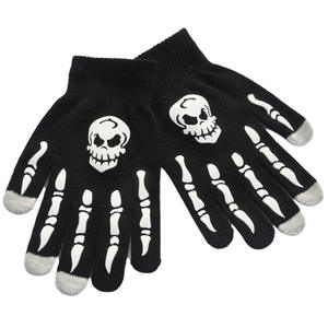 Winter Cycling Full Finger Gloves Outdoor Cycling Warm Knitted Gloves For Adults And Children General Fluorescent Luminous Glove