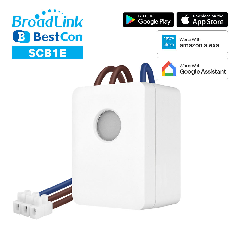 BroadLink BestCon SCB1E Smart WiFi Switch Module 16A With Energy Monitor Smart Remote Control Box Works With Google Assistant