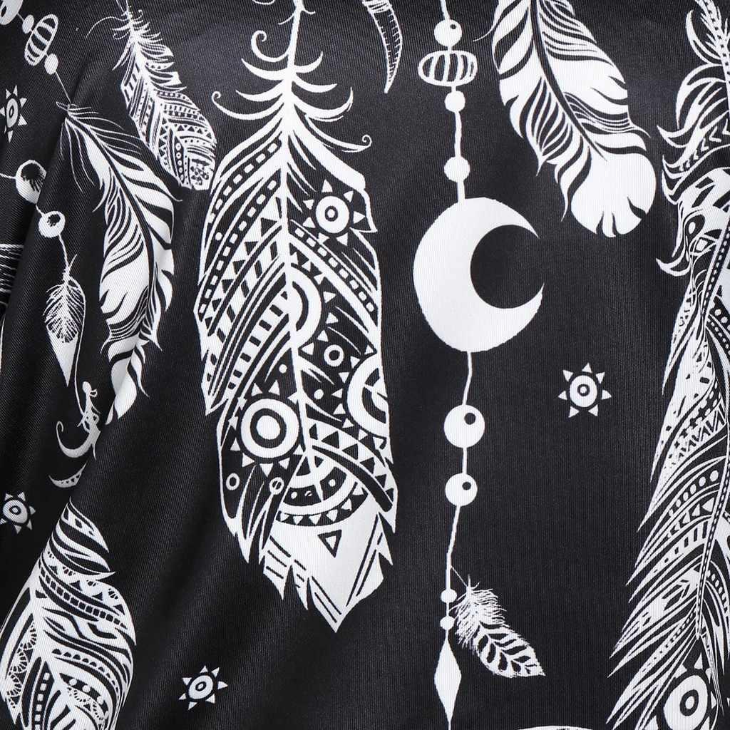 נשים 2PC תחרה אפוד ארוך שרוול בתוספת גודל צמרות Bloues נוצת הדפסת חולצה blusas גבירותיי חולצות mujer דה moda 2019 блузка женская