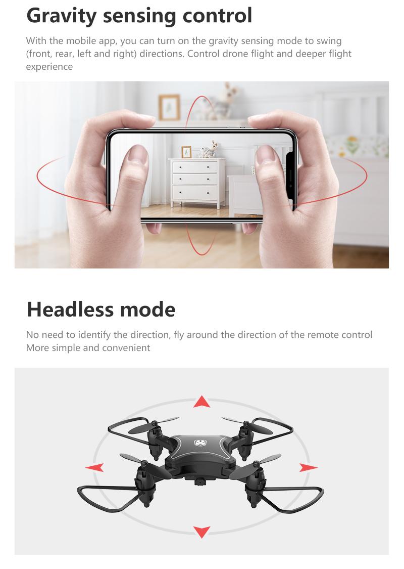 XKJ KY902 Mini Drone Quadcopter con cámara 4K HD 15