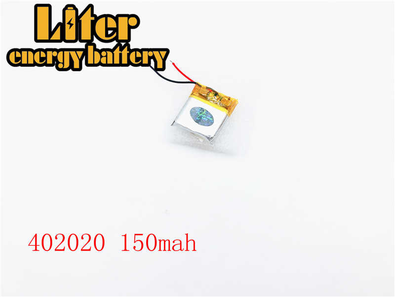 402020 150mAh 382020 3.7V lipo batterie rechargeable Li ion cellule pour MP3 bluetooth montre mi casque casque vidéo stylo