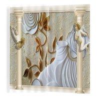 BJQ-1280(8) 150*166cm Trendy Living Room Bedroom Blackout Relief Prints Curtains Room 3d Curtain Window Drapes