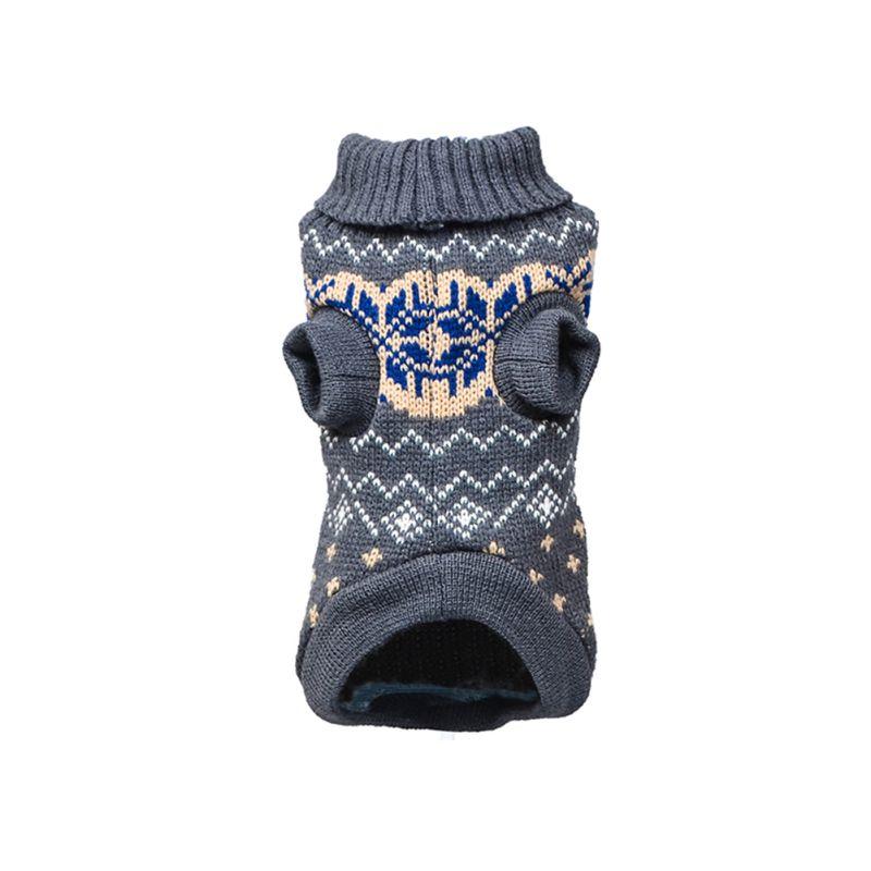Вязаный классический свитер для собак и щенков, зимняя теплая одежда для маленьких и средних собак - Цвет: H