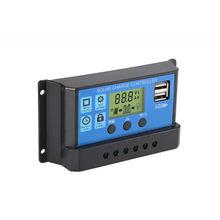 Солнечный контроллер заряда автоматический ШИМ ЖК дисплей солнечная
