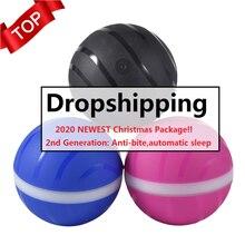 Рождество злой шар 2-го поколения Анти-укус Водонепроницаемая игрушка для домашних животных волшебный роликовый шар USB Pet шар светодиодный вращающийся флэш-шар