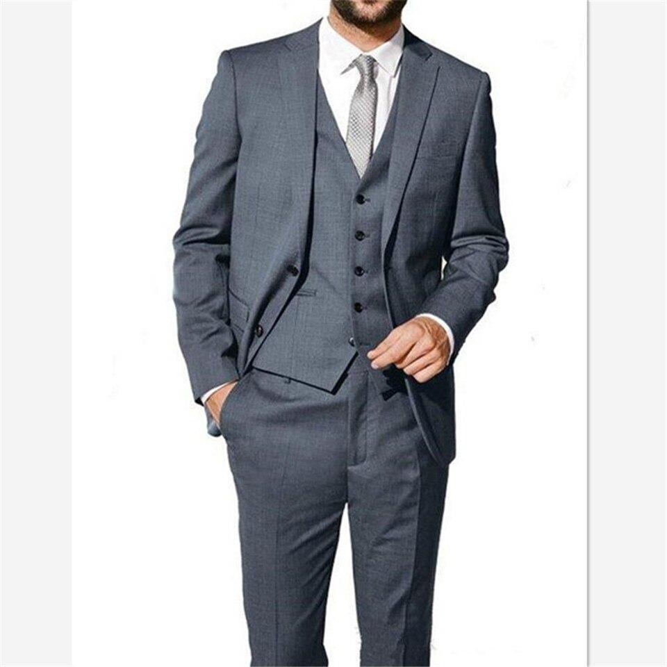 European And American Style Tuxedo Men Suit Traje Hombre Prom Business Costume Homme Mens Suits (Jacket+Pant+Vest) костюм