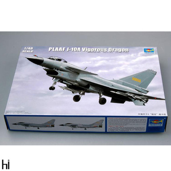 Trumpeter 1/48 02841 PLAAF J-10A Vigorous Dragon Fighter Military Plane Aircraft Plastic Assembly Model Building Kit Toy trumpeter 1 48 scale us c 47a c 48c skytrain transport plane airplane aircraft toy plastic assembly model kit