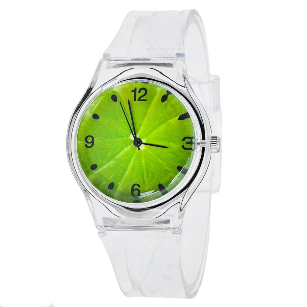 Teen Quartz Watches Multi-colors Luminescent Personality Fruit Print Silicone Atmospheric Fashion Boys Girls Watch