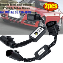 2pcs Dynamic Turn Signal Indicator LED Taillight Add on Module Cable Wire Harness Left&Right Tail Light For AUDI A6 S6 RS6 4G C7