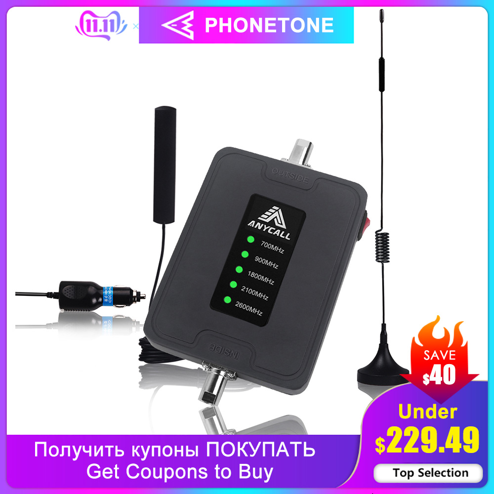 2G 3G 4G LTE Mobile Phone Booster 4G 700 900 1800 2100 2600mhz Signal Repeater Cellular Cell Phone Amplifier GSM DCS For Car RV