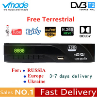 Full HD Digital Terrestrial TV Receiver TV BOX DVB T2 H.265 HAVC support AC3,Dolby,Youtube,TPTV,WIFI set top boxes with TV Scart