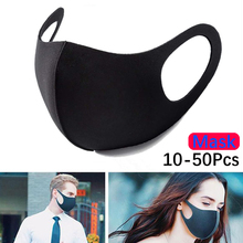 10 Pcs Mouth Masks Washable Cotton Cloth Activated Carbon Filter PM2.5 Respirator Anti Dust Proof Muffle Allergy Face Masks FPP2