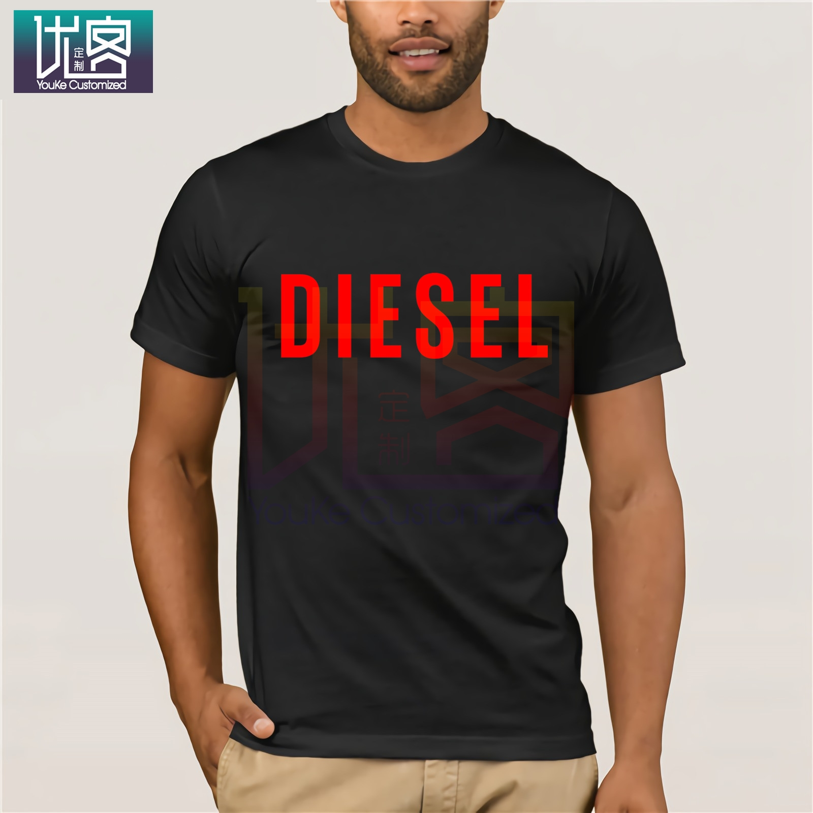 Diesel Power Shirts Clothes Popular T-shirt Crewneck 100% Cotton Tees Tops Summer Tees Cotton O Neck Herre T-Shirt For Men Tops