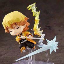 Kimetsu nenhum yaiba agatsuma zenitsu #1334 figura de ação modelo brinquedo 100mm anime demônio slayer zenitsu estatueta bonito brinquedos