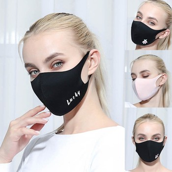 Women Outdoor Washable Reuse Face Mask Protection Printing Mouth Mask Unisex Outdoor Breathable Ordinary Printing Face Mask