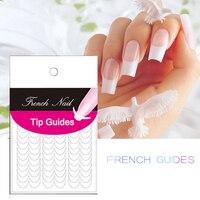 1 Piece White Finger Tip Guides Nail Stickers Water Nail Stickers Two Types Nail Stickers Manicure Strip Nail Art