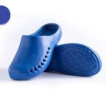 Летние мужские тапочки; удобная мягкая нескользящая обувь; обувь для медсестры; мужские сандалии для бассейна; Вьетнамки для ванной; легкая обувь с отверстиями