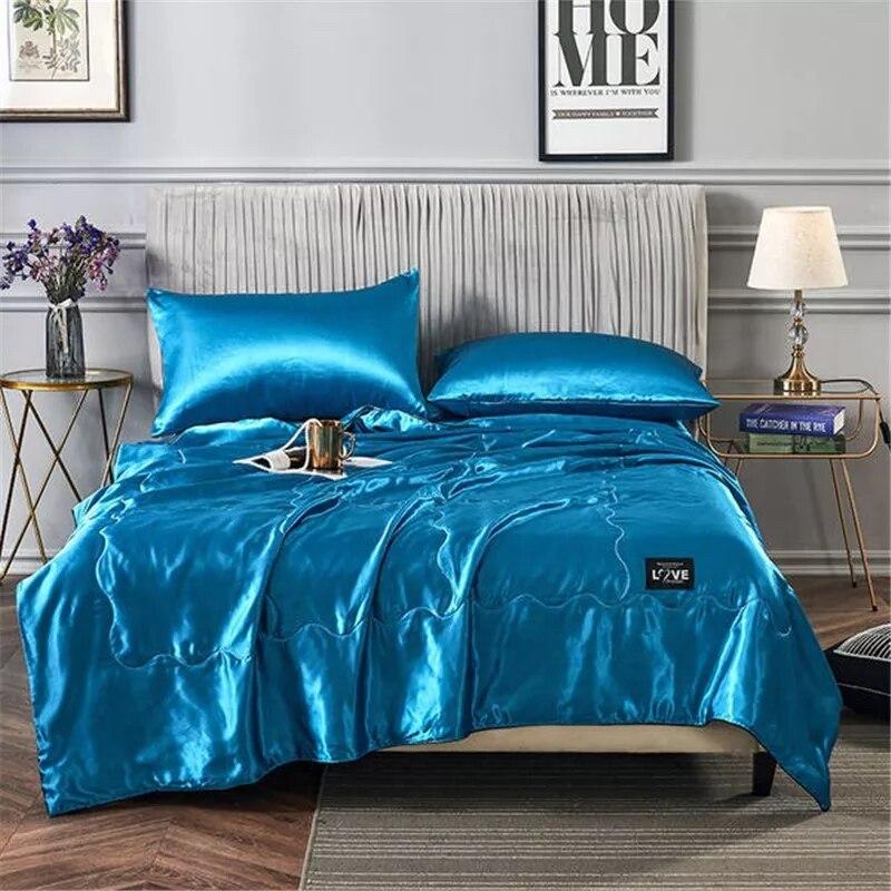 2020 NEW 100/% quilt blanket quilt washable ice silk summer air-conditioning silk