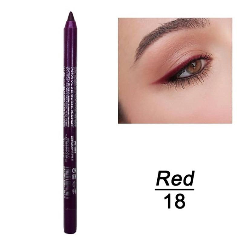 1 шт. стойкий карандаш для глаз водостойкий 14 цветов карандаш для глаз карандаш для век косметические инструменты для макияжа оптом TSLM2 - Цвет: 11