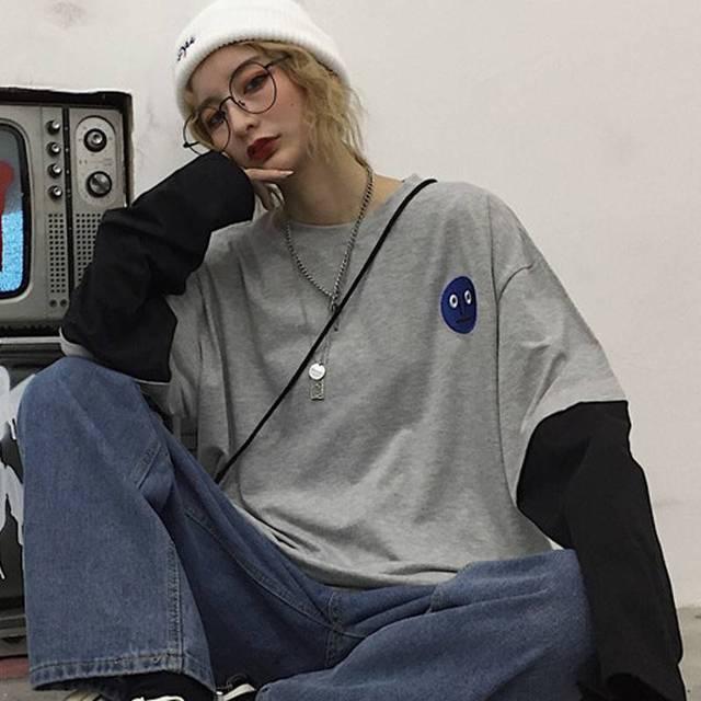 Spring Autumn female  Casual O-Neck stripe Tees harajuku Loose hoodie Women Long Sleeve Oversize top Hip Hop Sweatshirt ins 5