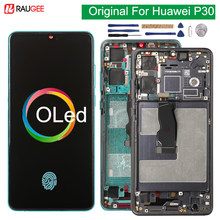 Original oled display para huawei p30 ELE-L29 lcd tela de toque com moldura 10 toque digitador da tela replement para huawei p 30