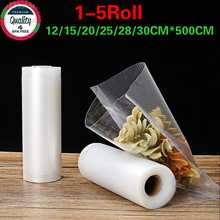 2 Roll Food Vacuum bag Sealer Bags Storage Bag For kitchen Packaging Sealing Machine Fresh Keeping 12   30*500cm BPA Free