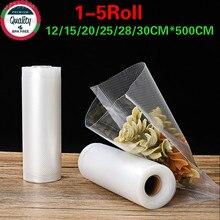 Sellador de bolsas al vacío para alimentos, bolsa de almacenamiento de bolsas para embalaje de cocina, máquina de sellado, mantenimiento fresco, 12 30*500cm, libre de BPA, 2 rollos