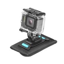 Alça de montagem para gopro hero 9 8 7 6 5 4 ombro ajustável mochila clipe sjcam eken peito titular dji câmera ação acessórios