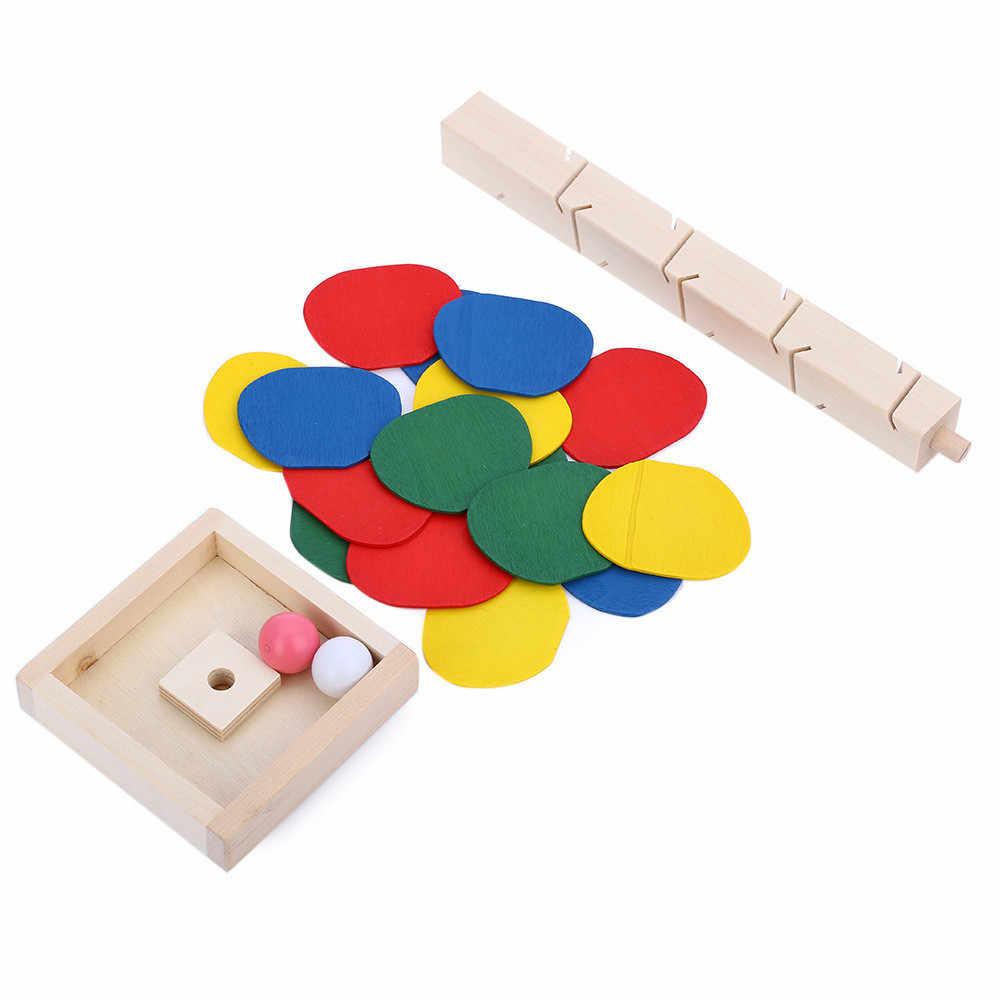 เด็ก DIY ของเล่นไม้บล็อกอาคารที่มีสีสันต้นไม้หินอ่อน Run TRACK ของเล่นเด็กเกมของเล่นการเรียนรู้ของเล่นเพื่อการศึกษา