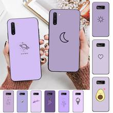 TOPLBPCS Purple background pattern Phone Case for Samsung Note 3 4 5 7 8 9 10 20 pro lite ultra Oppo A9 2020