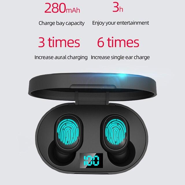 E6S TWS Bluetooth écouteur V5.0 sans fil casque Sport étanche écouteurs Mini véritable écouteurs casques pour tous les téléphones intelligents