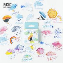 Autocollants de déco de journal intime de filles, papier japonais petites boîtes de journal de voyage météo, scrapbooking, articles de papeterie pour l'école