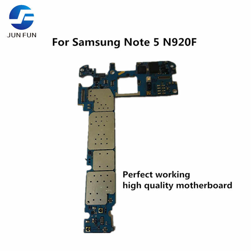 Бренд Jun Fun используется оригинальная материнская плата для Samsung Note 5 N920F