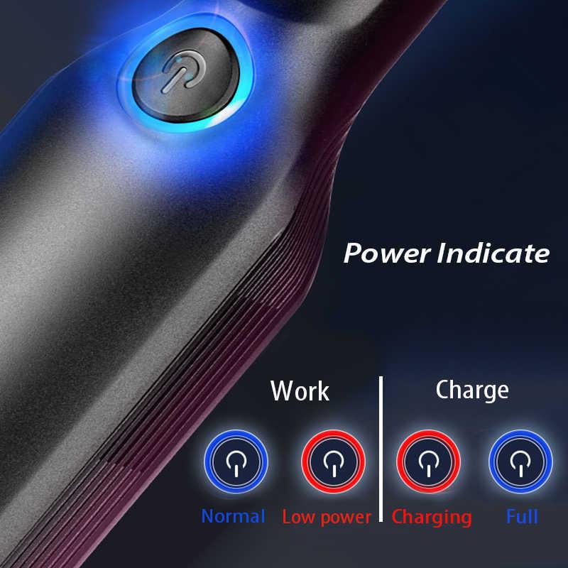 ハンドヘルドワイヤレス真空強力なサイクロン吸引充電式車の掃除機ウェット/ドライ自動ポータブル車の家庭用ペットの毛