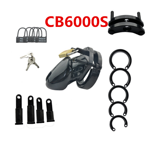 Image 3 - CB6000S/CB 6000 Rooster Cage Male Chastity Device with 5 Size Ring Penis Lock Male Chastity Belt Adult Game Sex Toys    -